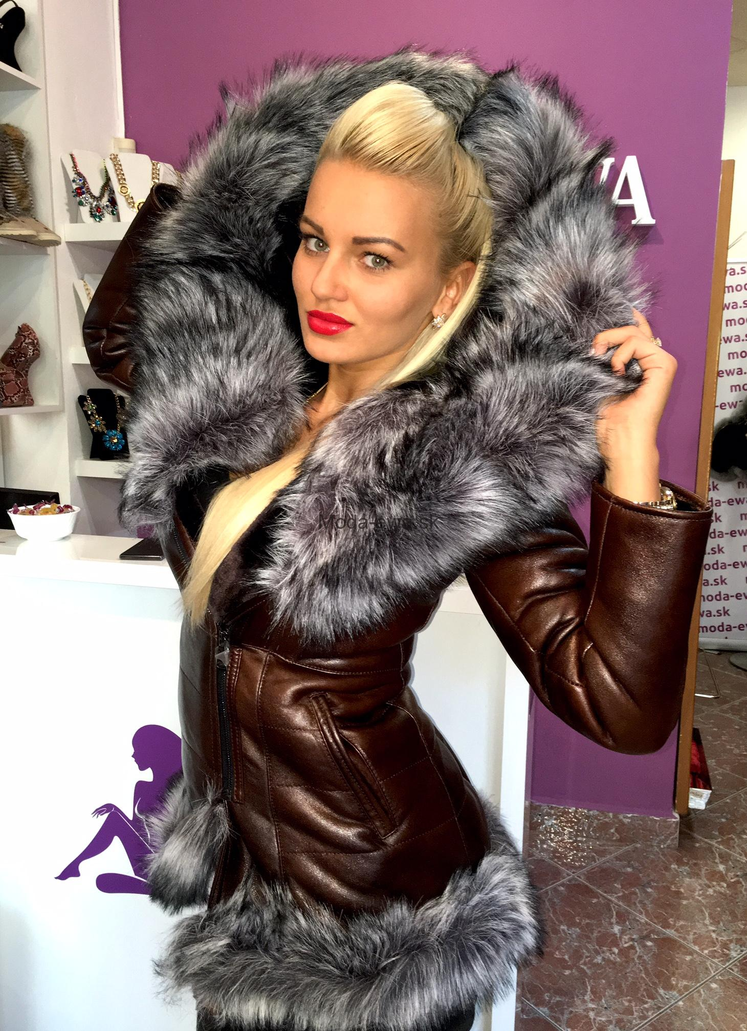 0481887b2 Luxusna bunda s kožušinou - Moda-Ewa.sk