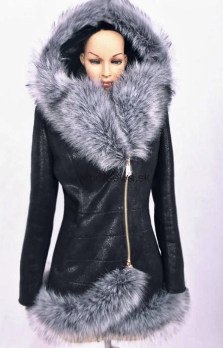 8664ab4b8940 Luxusna bunda s kožušinou - Moda-Ewa.sk